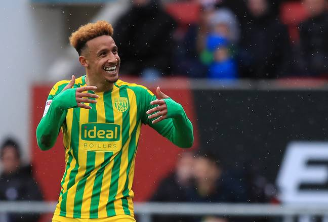 Callum Robinson was in the midst of a promotion charge with West Bromwich Albion. (Image Credit: PA)
