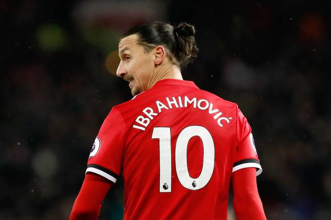 Zlatan with the number 10 shirt at United. Image: PA Images