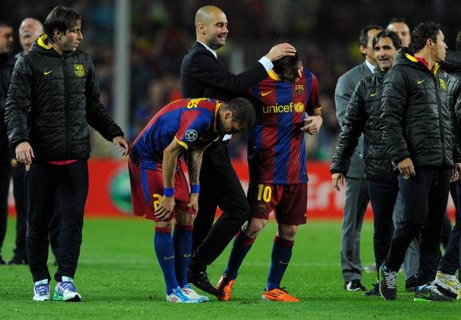 Guardiola and Messi had a special relationship. Image: PA Images