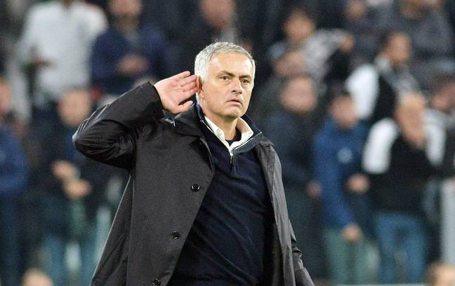 Mourinho cupping his ear on Wednesday night (Credit: PA)