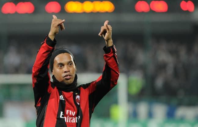 Ronaldinho for AC Milan. Image: PA