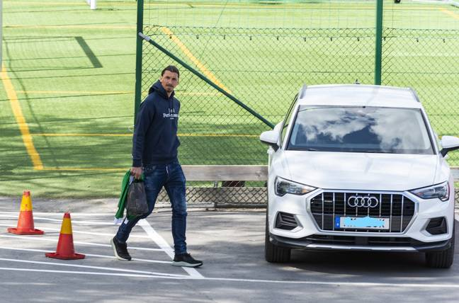 Ibrahimovic at Milan training, but he may not be there much longer. Image: PA Images