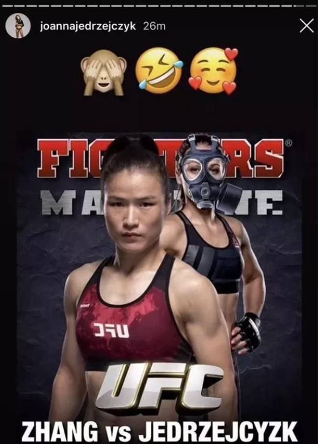 The post from Jedrzejczyk, which has since been deleted.
