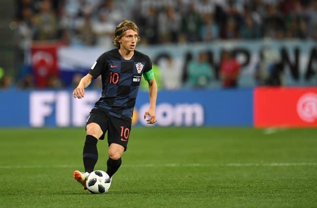 Modric on the ball. Image: PA