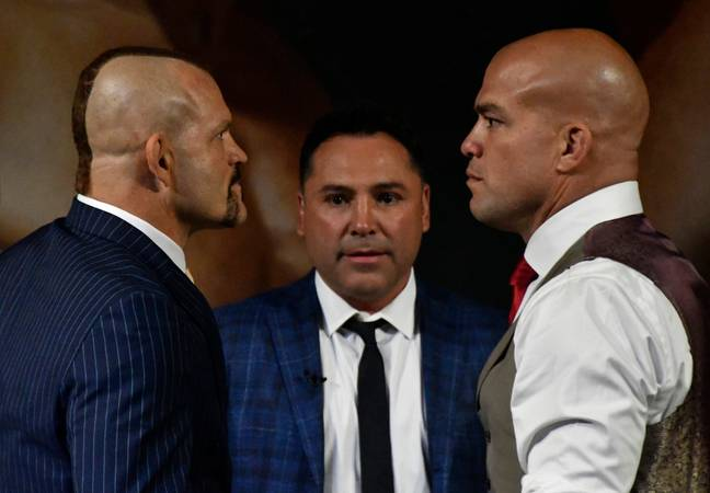 Liddell (L) and Ortiz (R) face off in 2018. (Image Credit: PA)