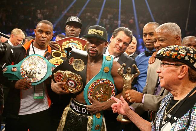Mayweather came out on top in the first fight. Credit: PA