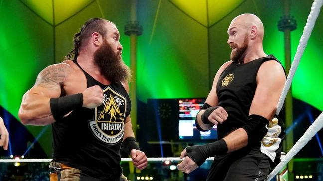 Fury took on Braun Strowman at Crown Jewel on his only previous WWE appearance. Image: WWE