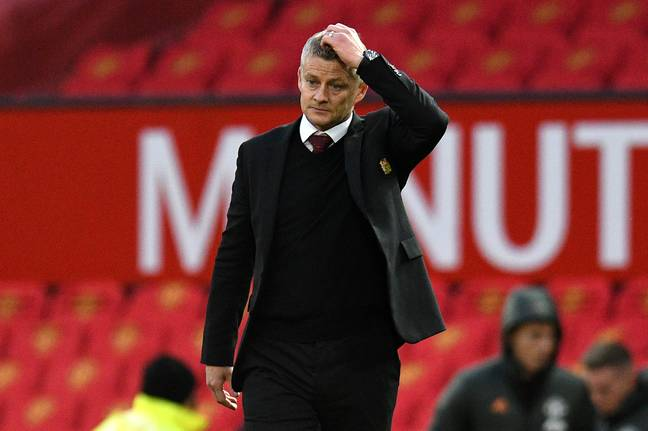 Solskjaer during the loss to Spurs. Image: PA Images
