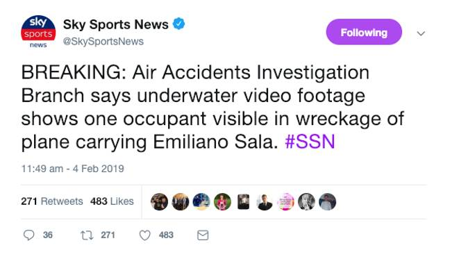 Credit: Twitter/Sky Sports