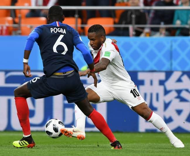 Farfan in action vs. France. Image: PA