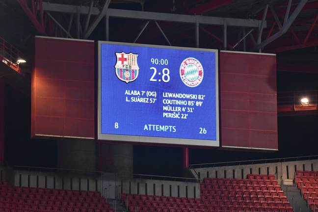The scoreboard in Lisbon tells the story. Image: PA Images