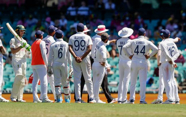Play was halted when India's players notified the umpires of the incident. Credit: PA