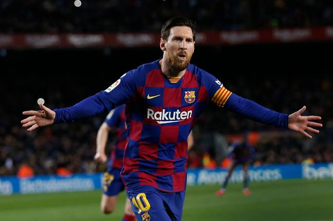 Lionel Messi of Barcelona. Credit: PA