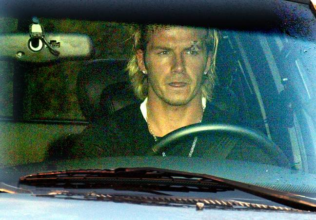 Beckham pictured after the incident. Image: PA Images
