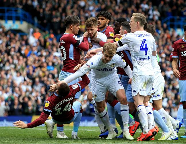 There was a huge melee in the match against Aston Villa at the end of the season. Image: PA Images