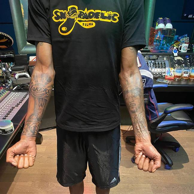Snoop Dogg shows off his new ink. Credit: Instagram