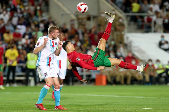PA: Cristiano Ronaldo's bicycle kick against Luxembourg