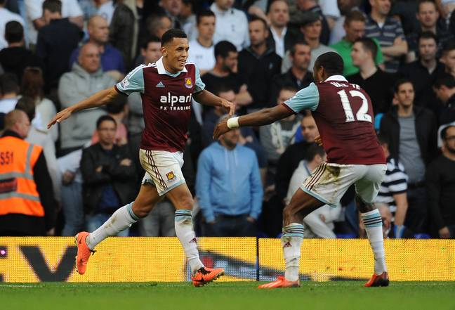 Morrison celebrates his goal against Spurs, described as 'genius' by manager Sam Allardyce. Image: PA Images