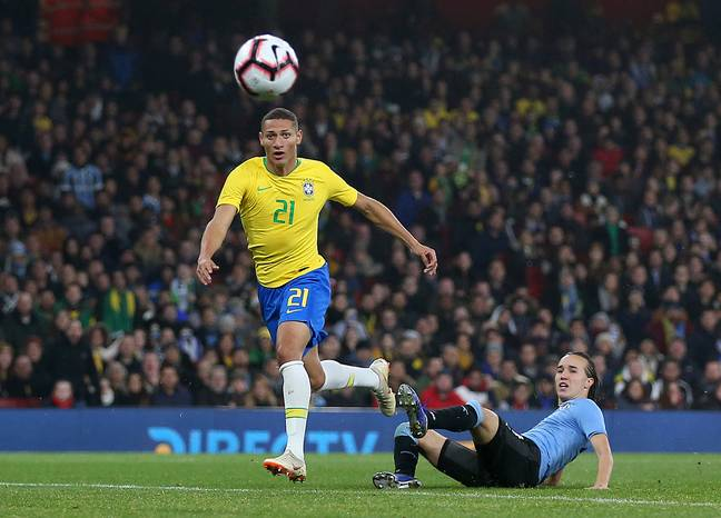 Richarlison has already worn the famous yellow of Brazil. Image: PA Images