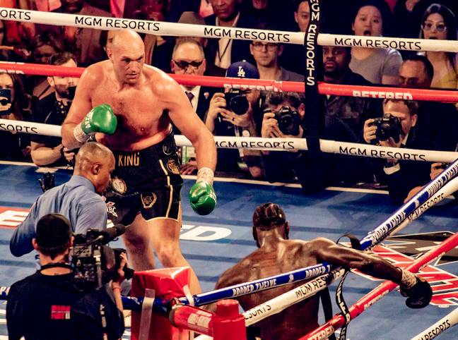 Fury knocked Wilder down twice before eventually stopping him in the seventh round. Image: PA Images