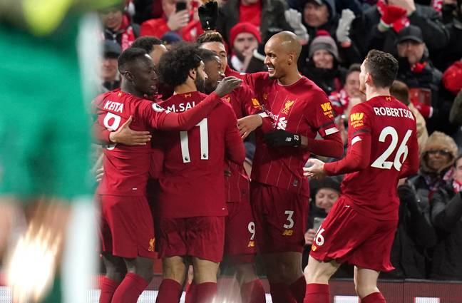 Liverpool's relentless winning continued on Monday. Image: PA Images