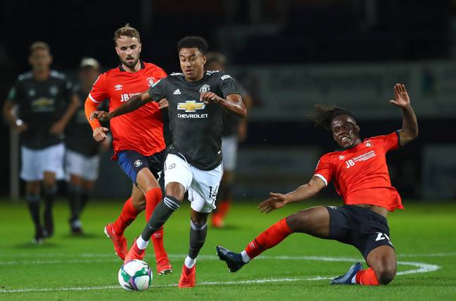 Jesse Lingard featured in Manchester United's 3-0 win against Luton Town on Tuesday night. Image: PA