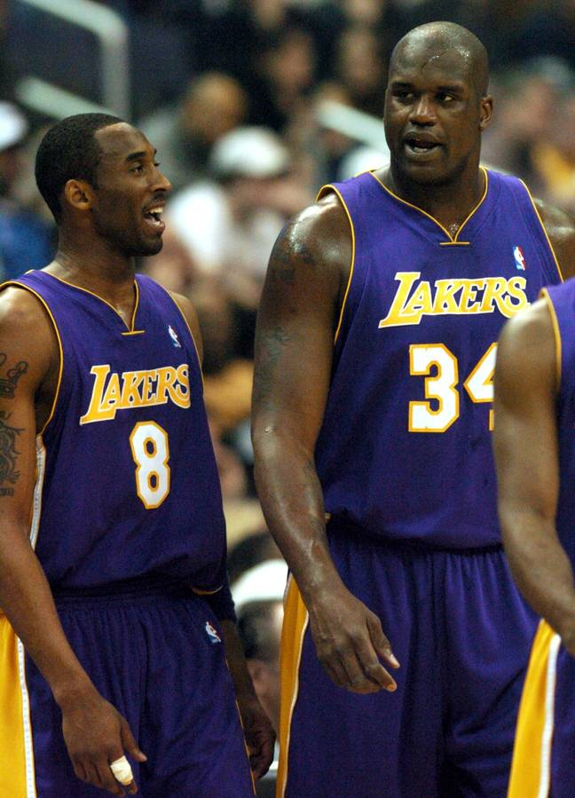 Los Angeles Lakers legends Shaquille O'Neal and Kobe Bryant. Credit: PA