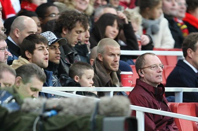 Beckham even watched games at the Emirates Stadium during his time in London. (Image Credit: PA)
