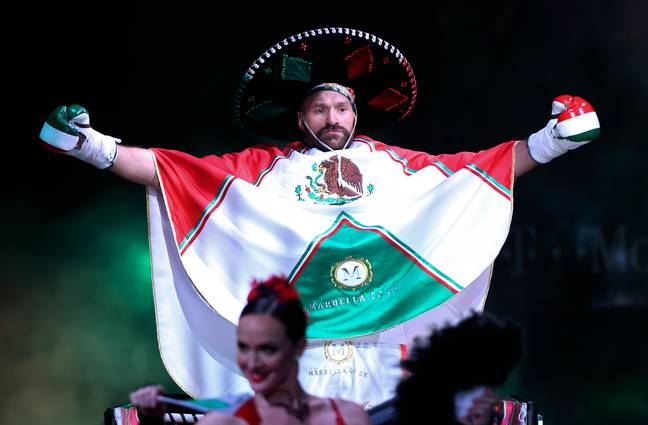 Tyson Fury donned Mexican colours for the fight against Otto Wallin to celebrate Mexican independence day