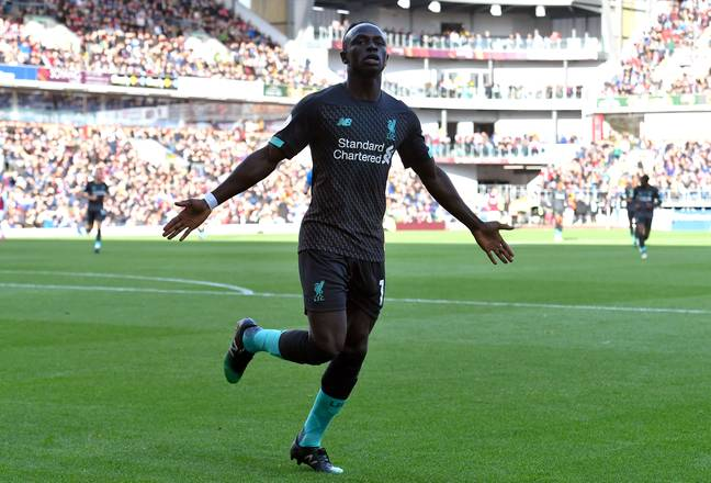 A frequent image this season as Mane once again celebrates scoring. Image: PA Images
