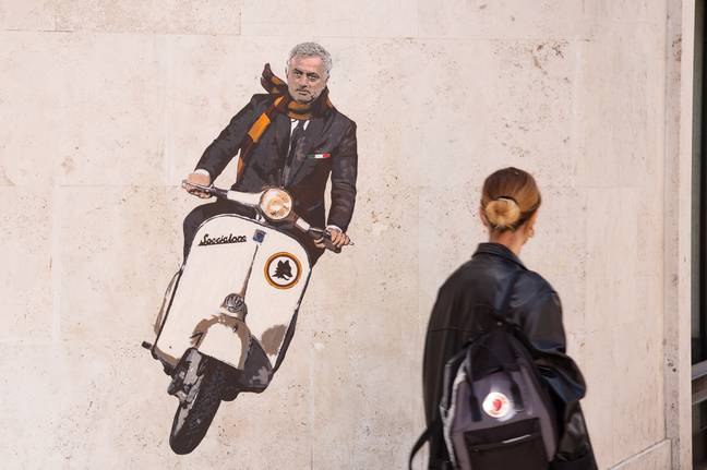 A mural of Mourinho has already appeared in Rome. Image: PA Images