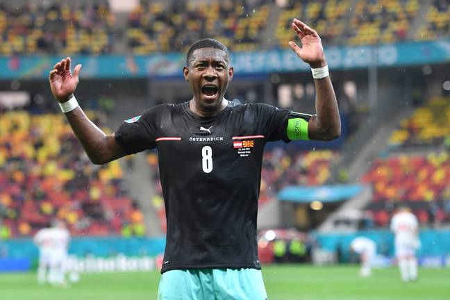 Alaba played for Austria during Euro 2020. Image: PA Images