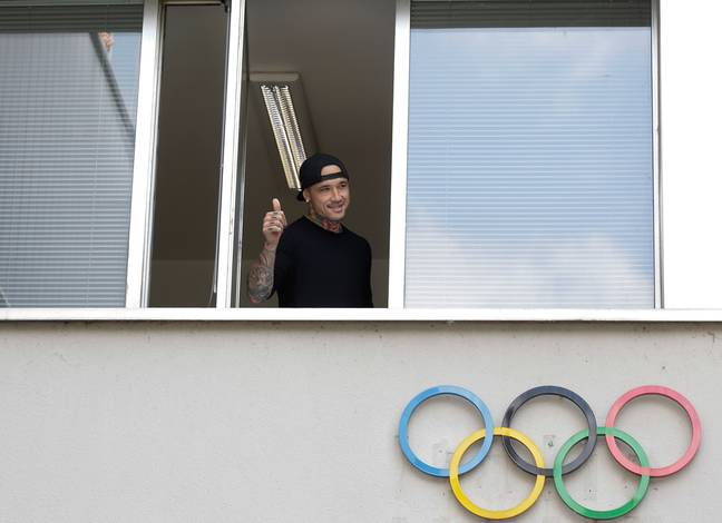 Nainggolan at the Italian Olympic Committee's headquarters for his medical. Image: PA Images
