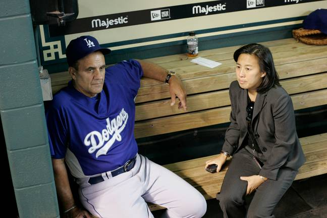 Ng during her time with the Dodgers. Credit: PA