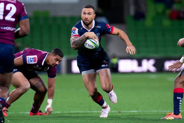 Quade Cooper playing for the Melbourne Rebels. Credit: PA