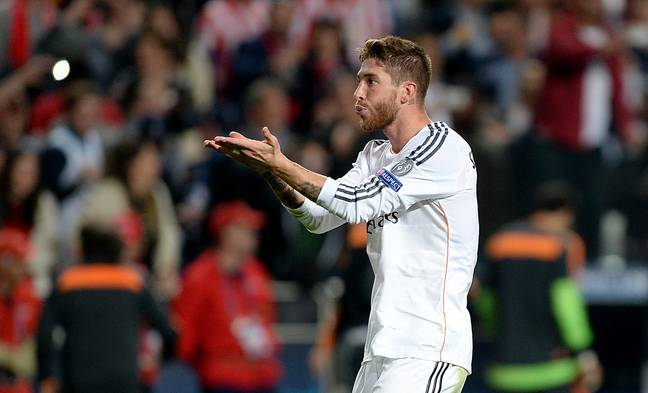 Ramos celebrates scoring in the 2014 Champions League final. Image: PA Images
