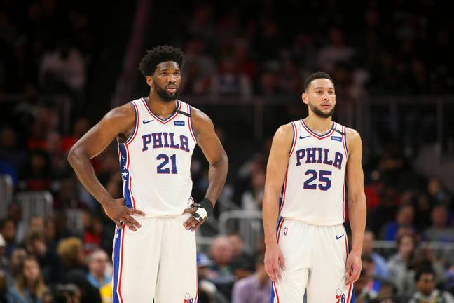 Joel Embiid and Ben Simmons. Credit: PA