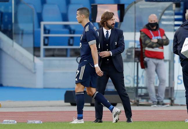 There's been on indication of a falling out with Juve head coach Andrea Pirlo. Credit: PA
