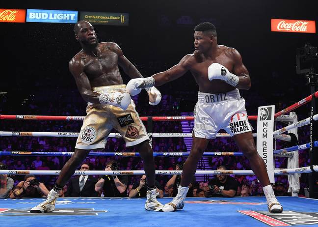Ortiz was Wilder's previous challenger. Image: PA Images