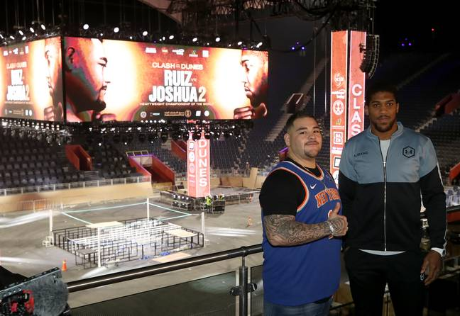 Saudi Arabia hosted Anthony Joshua vs Andy Ruiz II and was expected to host AJ vs Tyson Fury. Image: PA Images