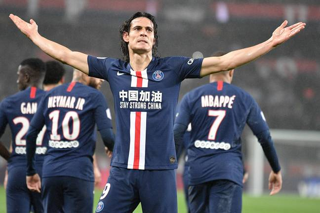Cavani is PSG's top scorer of all time. Image: PA Images