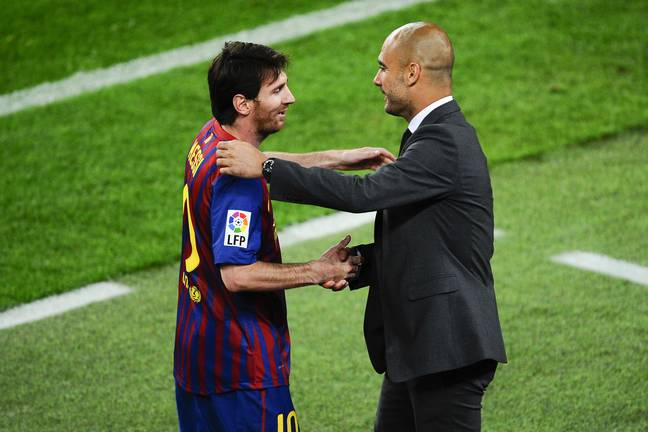 Manchester City boss Pep Guardiola is said to be keen to link up with Messi again