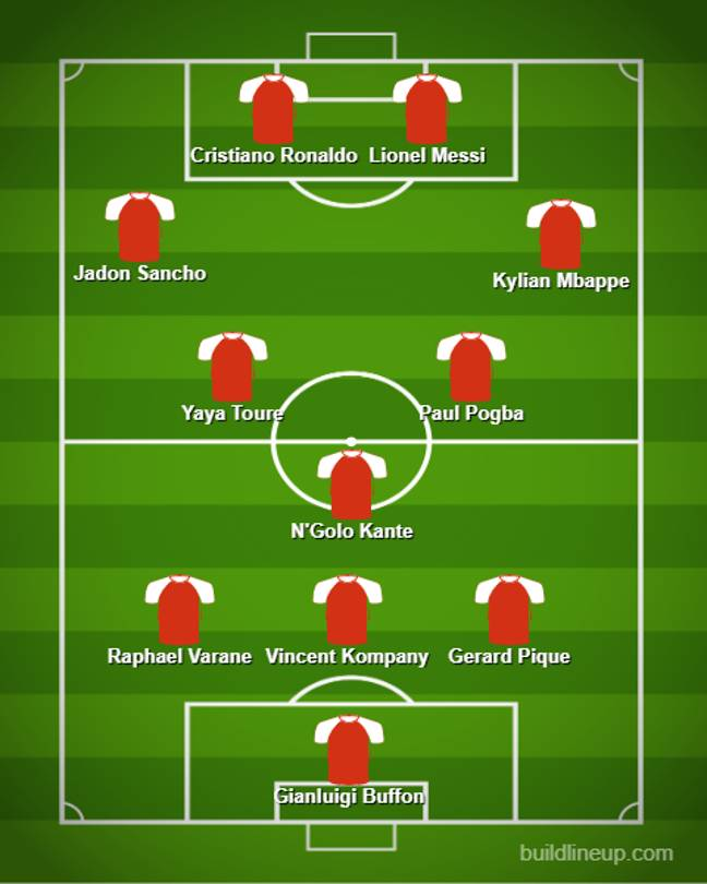 Wenger's 'What Might Have Been XI.' Image: SPORTbible/Buildlineup.com