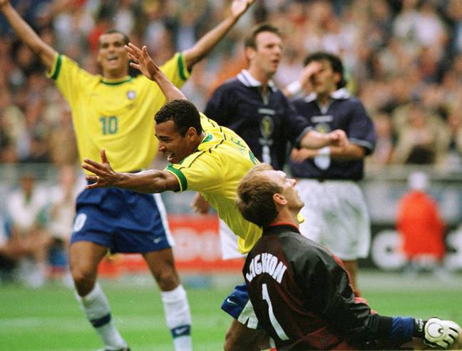 The last time Scotland were in an international tournament they faced World champions Brazil. Image: PA Images