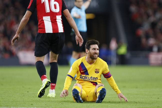 Messi left frustrated by Athletic. Image: PA Images