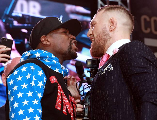 The back and forth between McGregor & Mayweather was more explosive than the fight. Image: PA Images