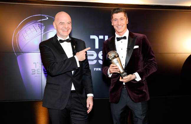 Lewandowski did win FIFA's The Best award. Image: PA Images