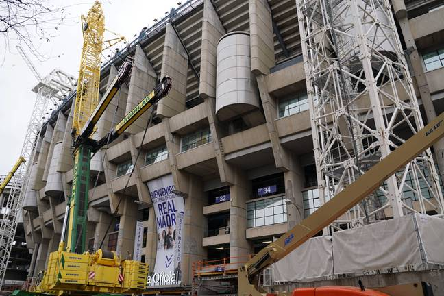 The Bernabeu is in the middle of a huge renovation. Image: PA Images