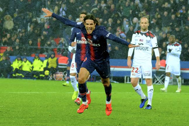 Cavani hasn't played for PSG since March. Image: PA Images