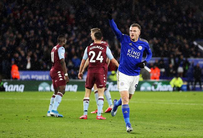 Leicester's 4-0 win over Aston Villa was the most recent Premier League game. Image: PA Images